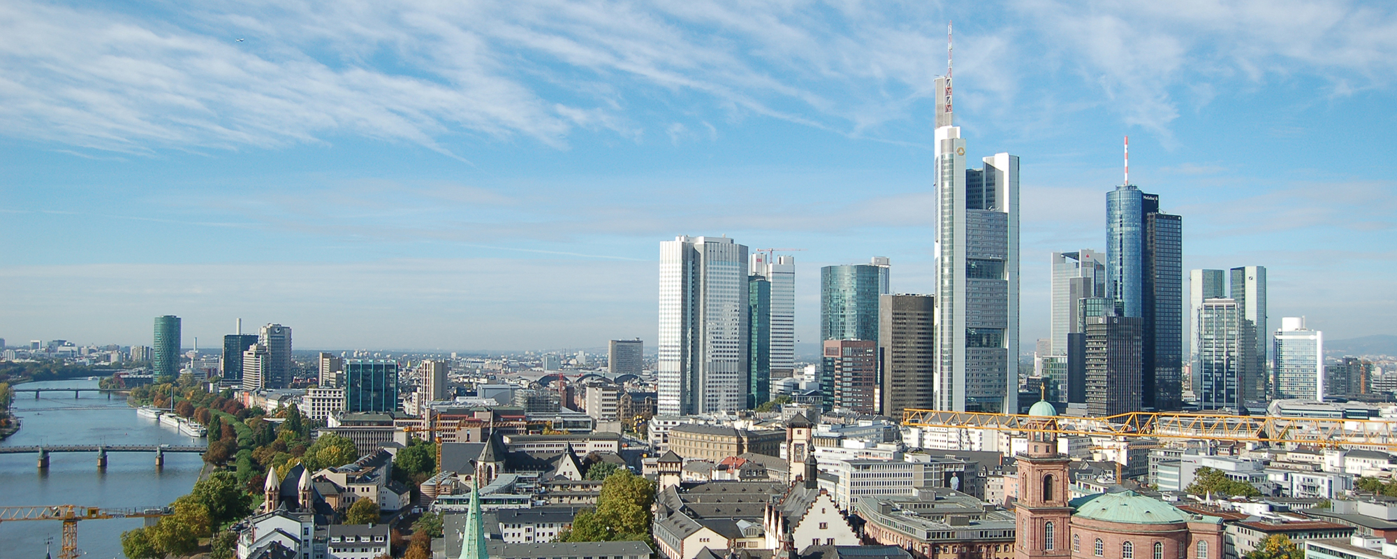Panoramabild Skyline Frankfurt am Main